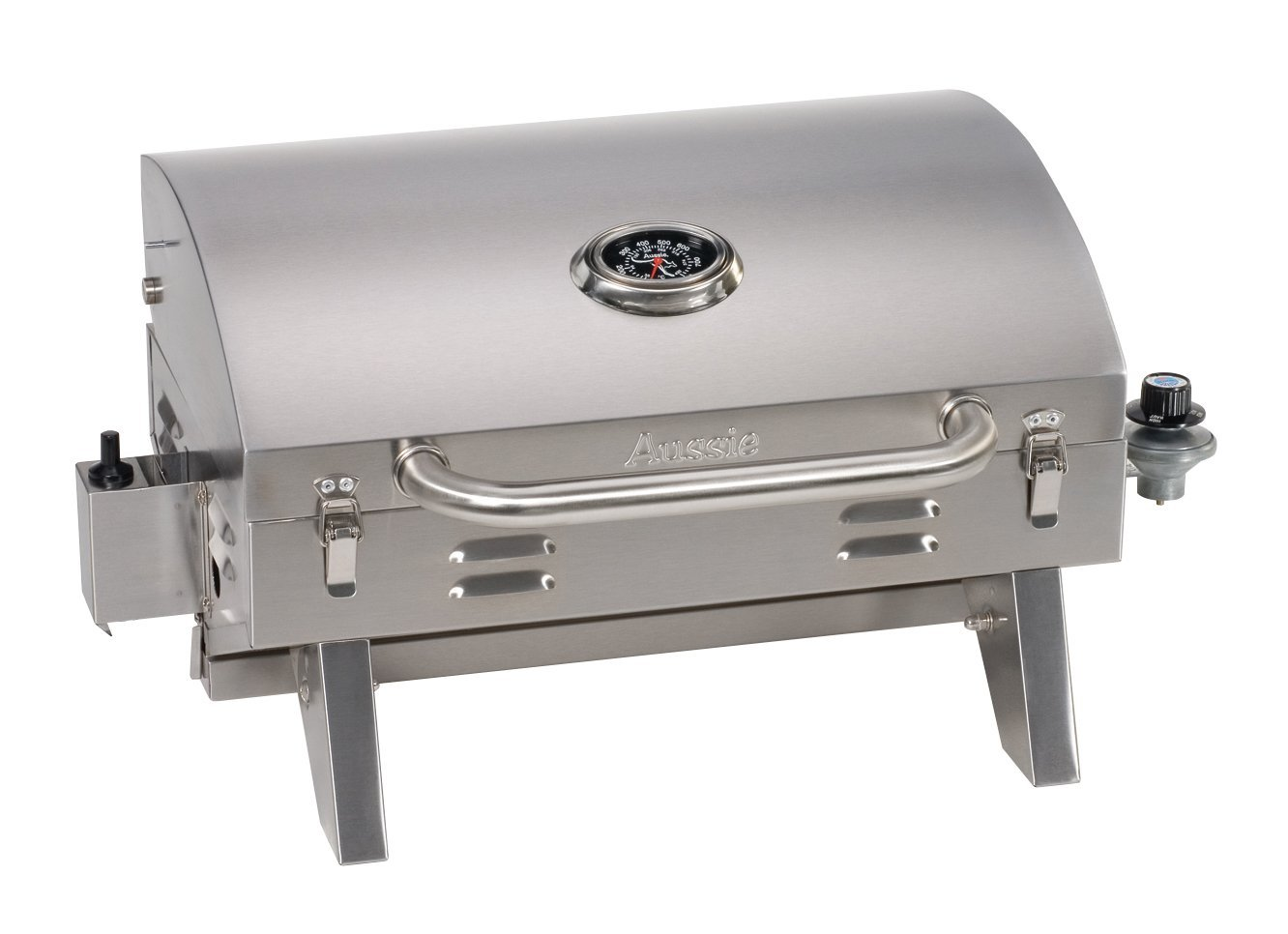 Portable Gas Grill Review Aussie 205 Stainless Steel Tabletop Gas Grill