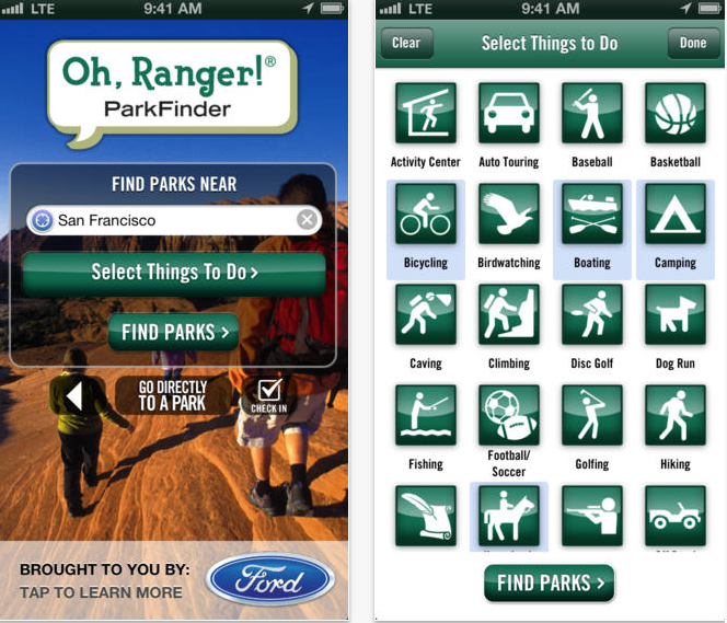 33 Outdoor Apps to Get Kids into Nature Oh Ranger ParkFinder App