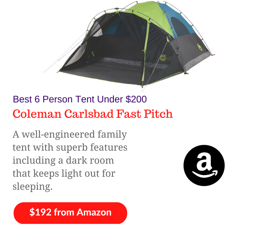 Coleman CARLSBAD™ FAST PITCH™ 6-PERSON DARKROOM™ TENT WITH SCREEN ROOM Review