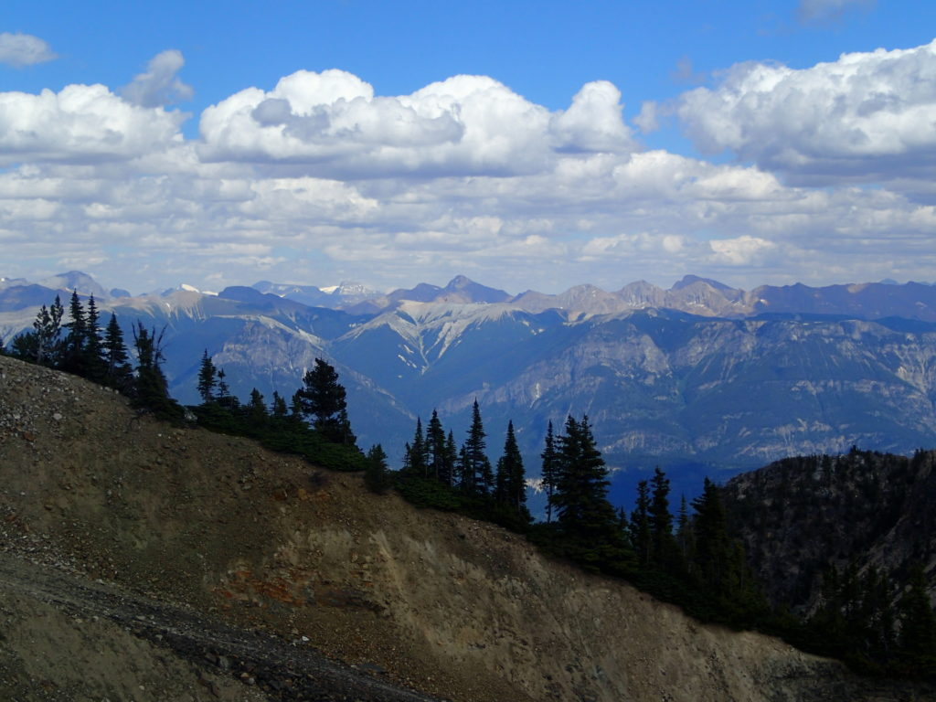 Looking across the valley from the Barrier Lake Fire Lookout Calgary Rockies Hiking with Kids