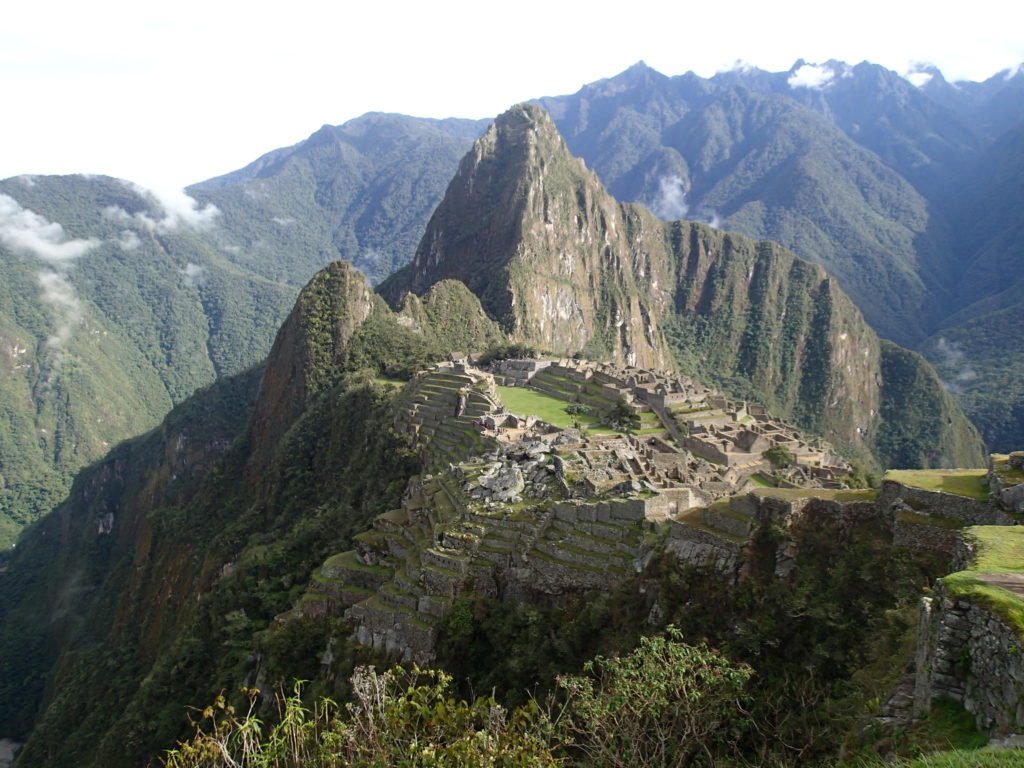 Morning View of Machu Picchu Hiking Inca or Inka Trail and Backpacking