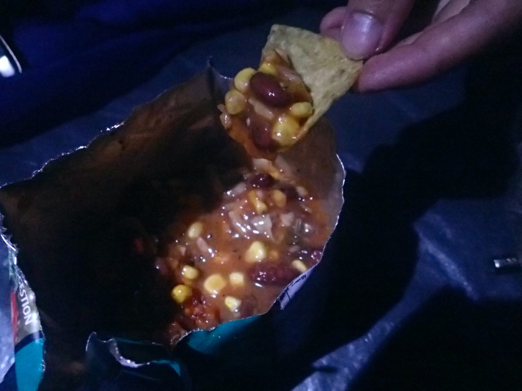 Rehydrated Chilli and Nachos Essential Hiking Gear